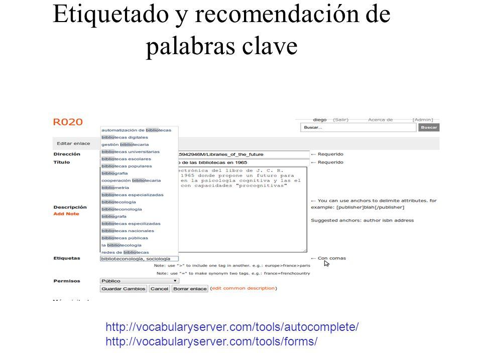 Etiquetado y recomendación de palabras clave