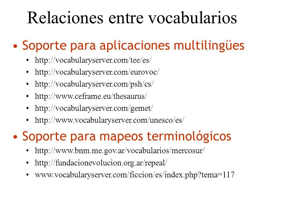 Relaciones entre vocabularios