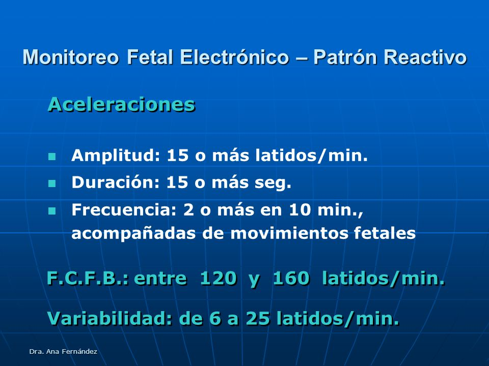Monitoreo Fetal Electrónico – Patrón Reactivo