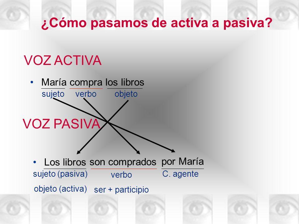 ¿Cómo pasamos de activa a pasiva