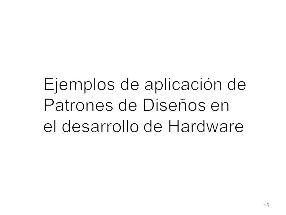Ejemplos de aplicación de Patrones de Diseños en el desarrollo de Hardware