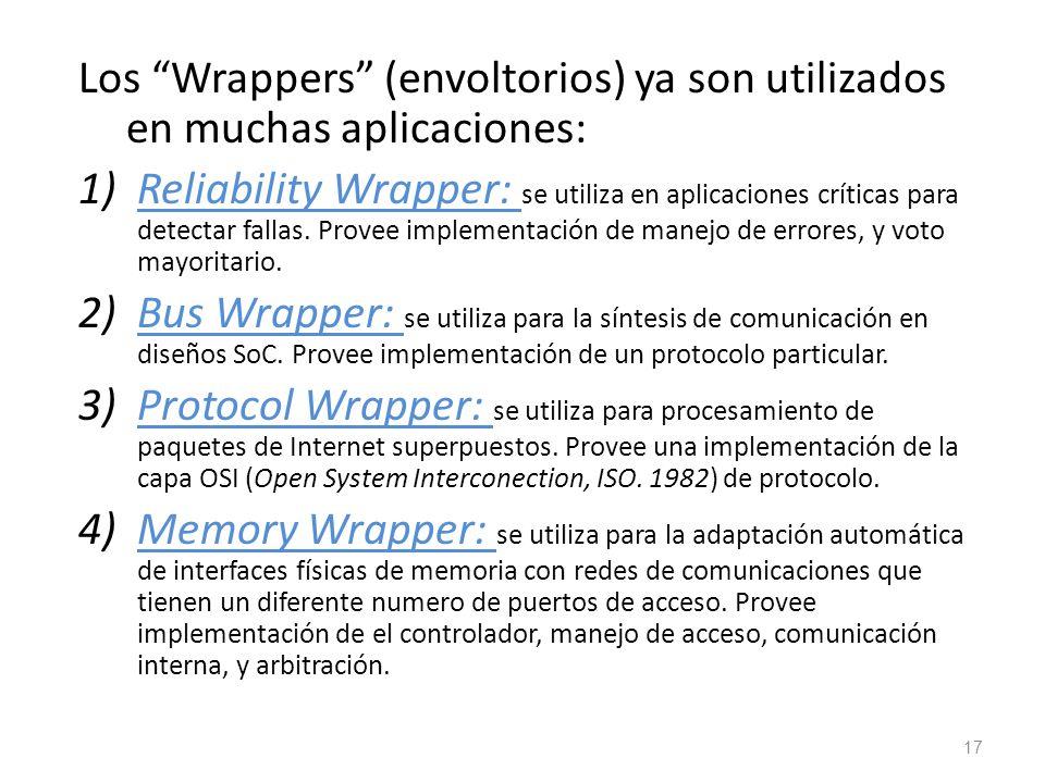 Los Wrappers (envoltorios) ya son utilizados en muchas aplicaciones: