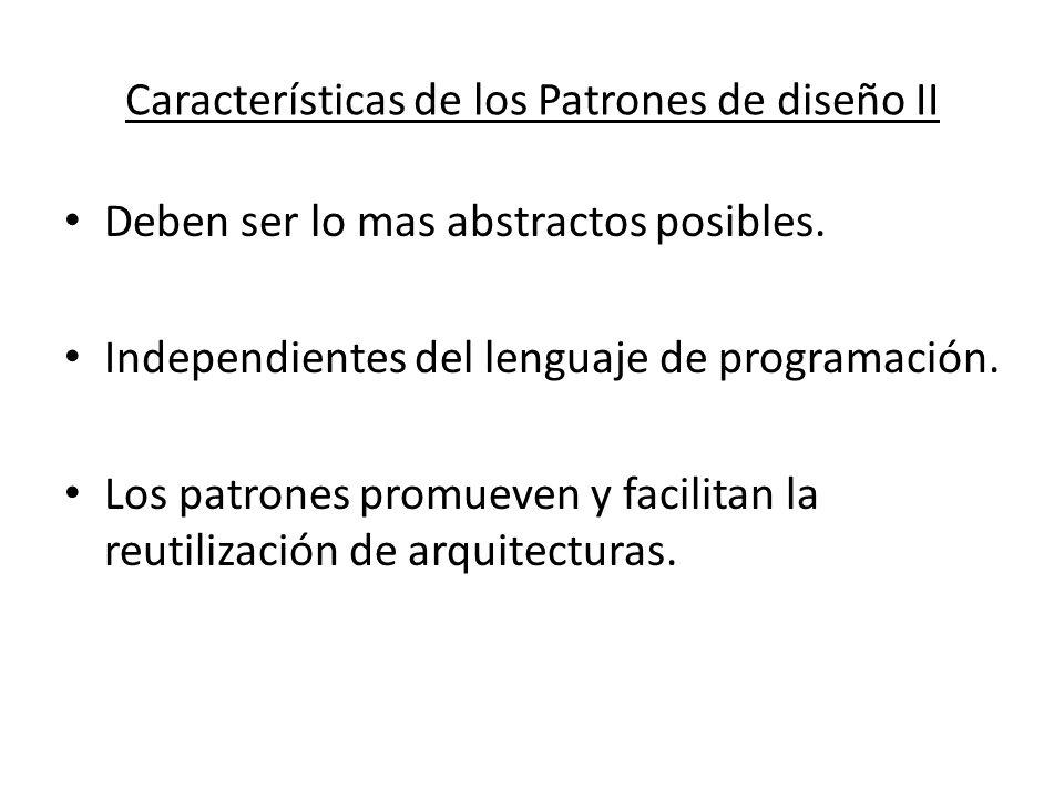 Características de los Patrones de diseño II