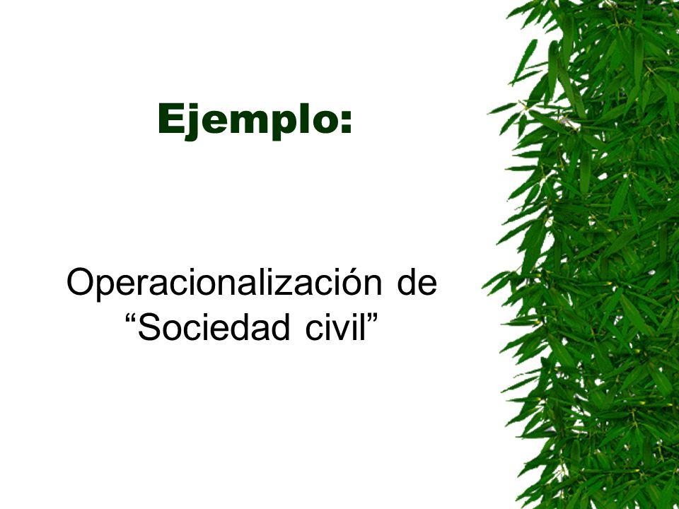 Operacionalización de Sociedad civil