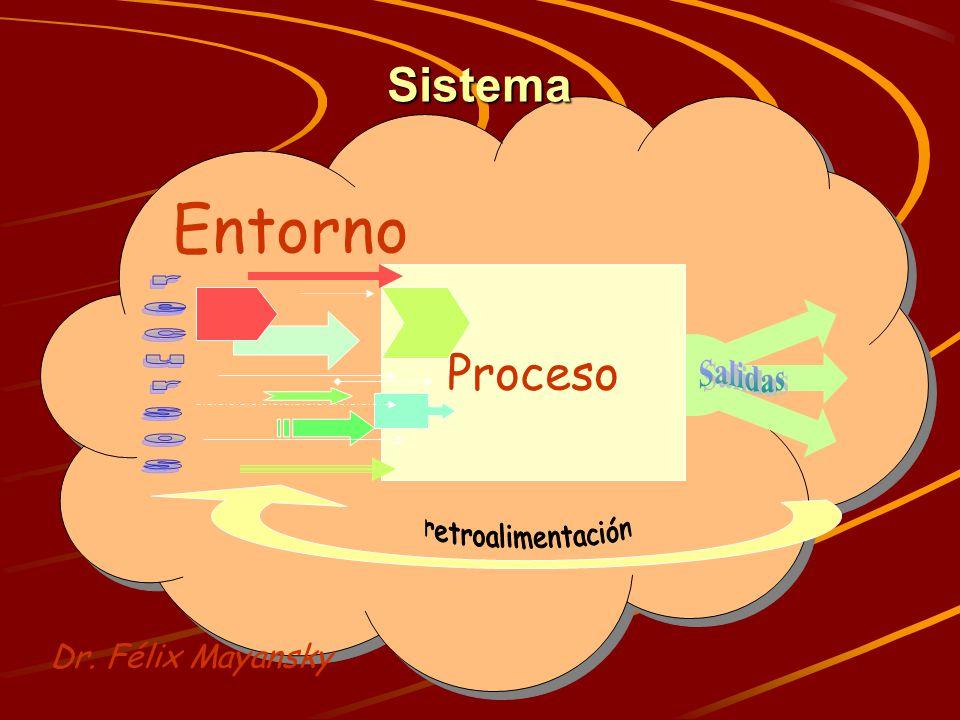Entorno Sistema Proceso recursos Salidas retroalimentación