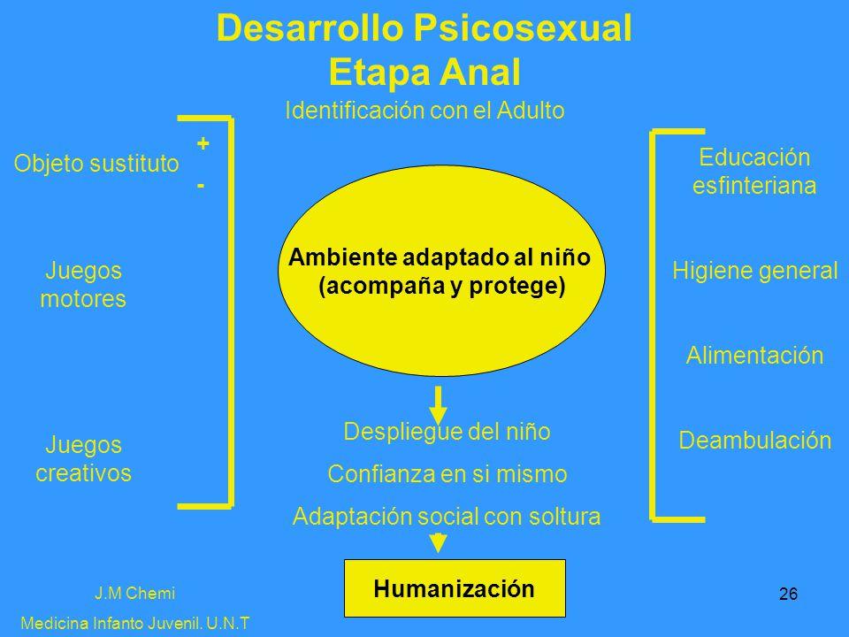 Desarrollo Psicosexual Ambiente adaptado al niño