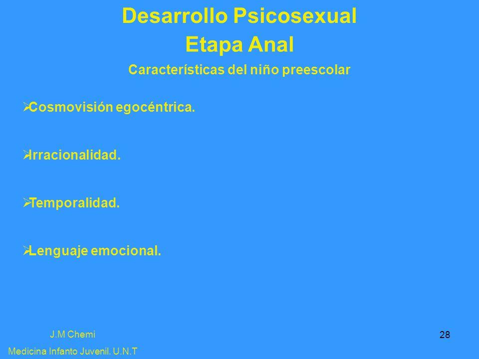Desarrollo Psicosexual Características del niño preescolar