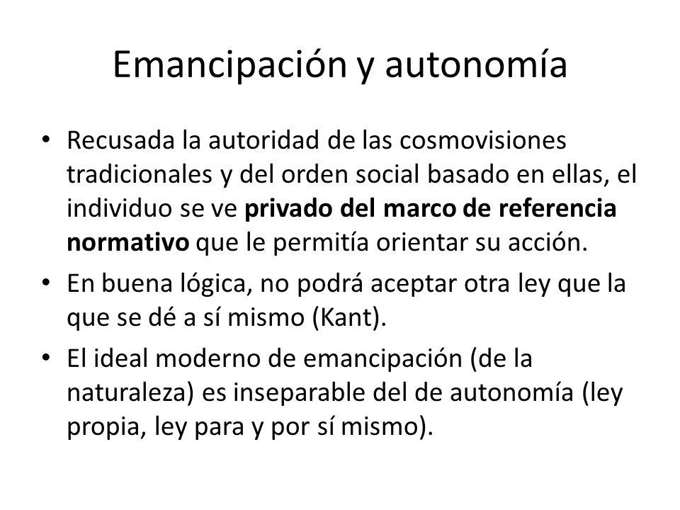 Emancipación y autonomía