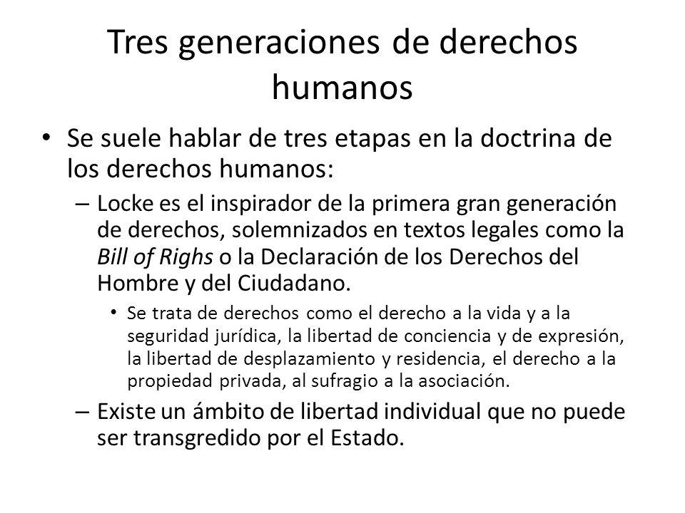 Tres generaciones de derechos humanos