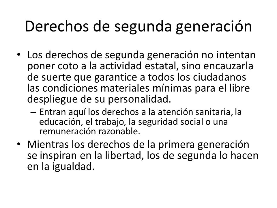 Derechos de segunda generación
