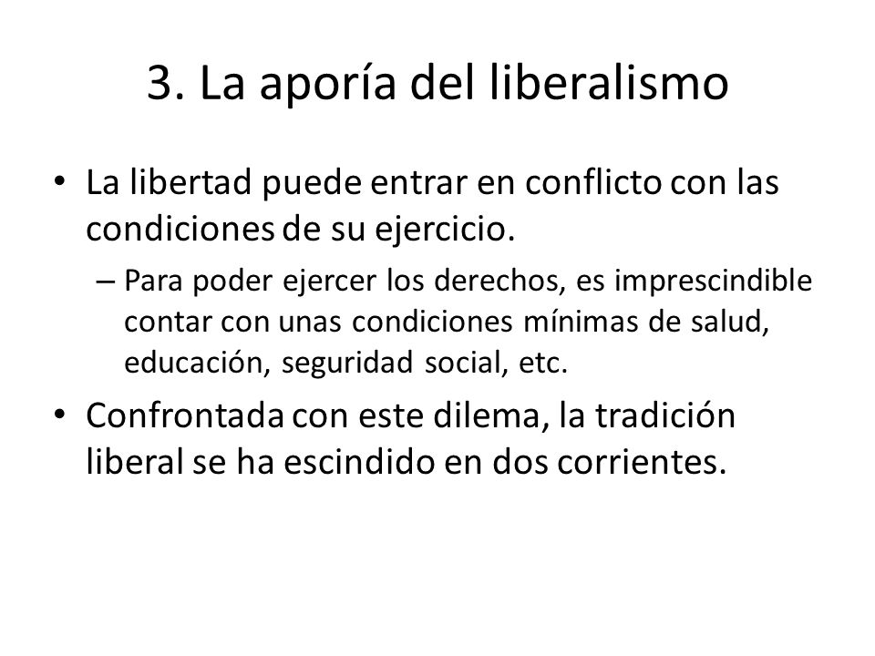 3. La aporía del liberalismo