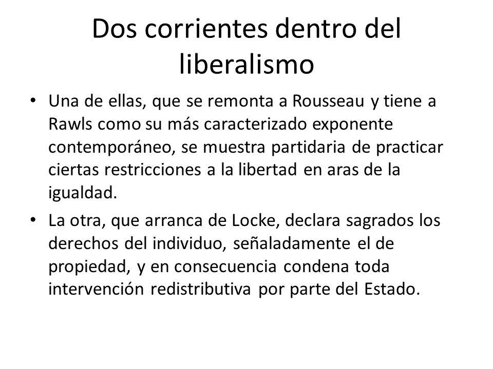 Dos corrientes dentro del liberalismo