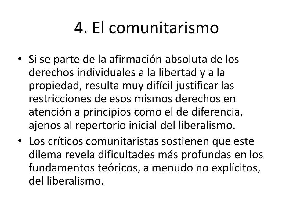 4. El comunitarismo