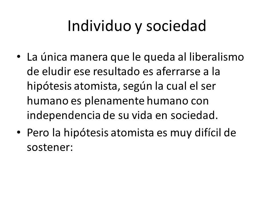 Individuo y sociedad