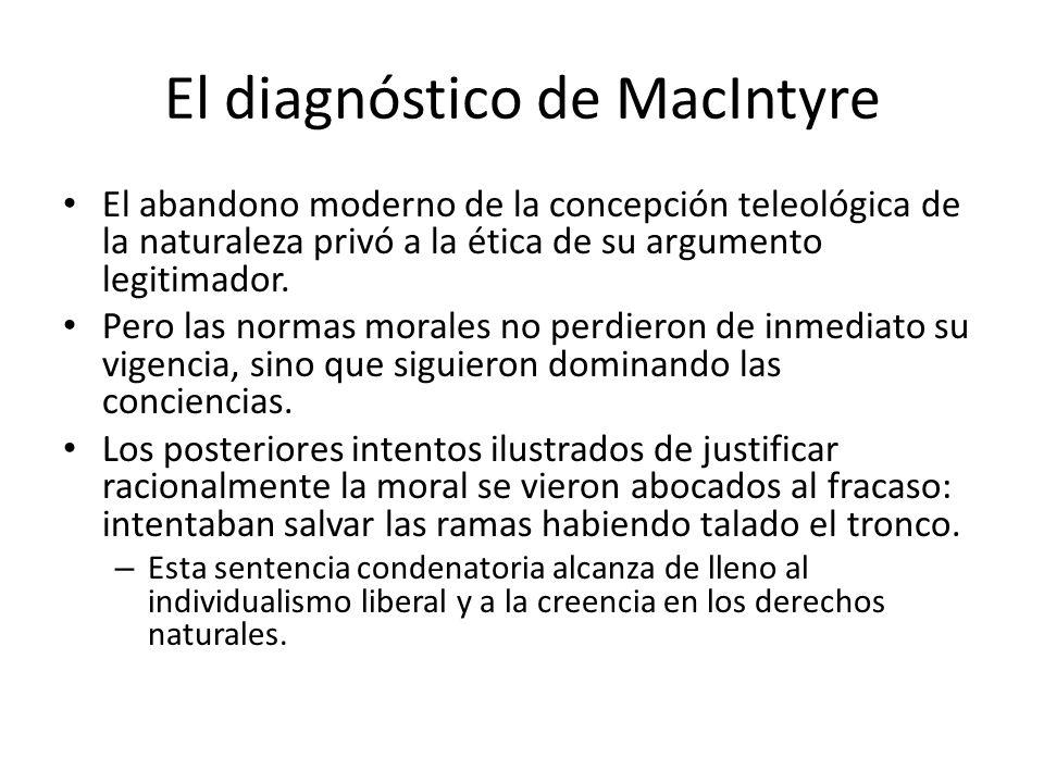 El diagnóstico de MacIntyre