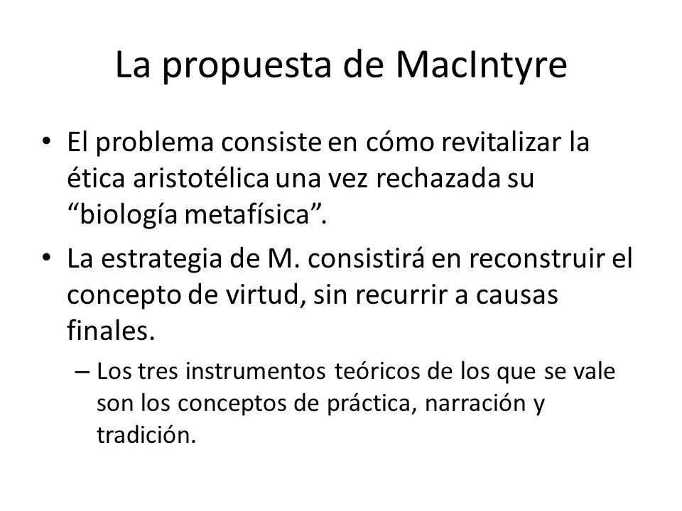 La propuesta de MacIntyre