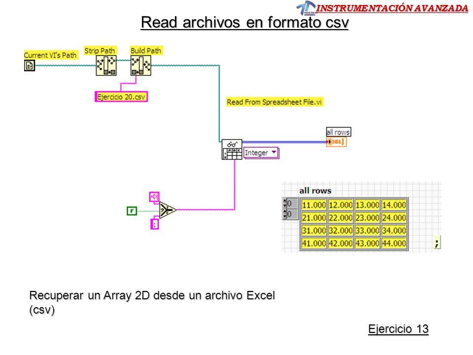 Read archivos en formato csv