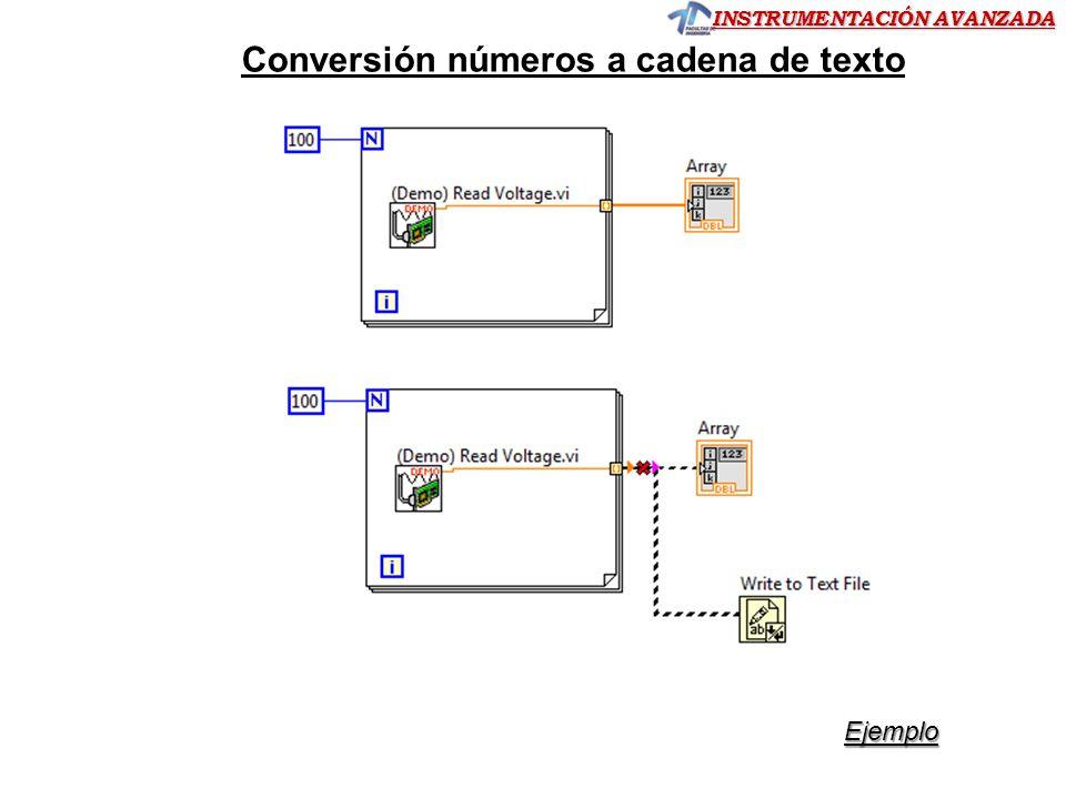 Conversión números a cadena de texto