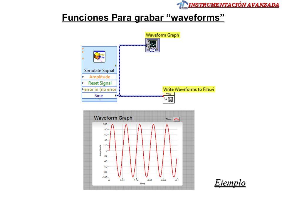 Funciones Para grabar waveforms