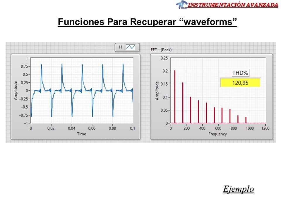 Funciones Para Recuperar waveforms