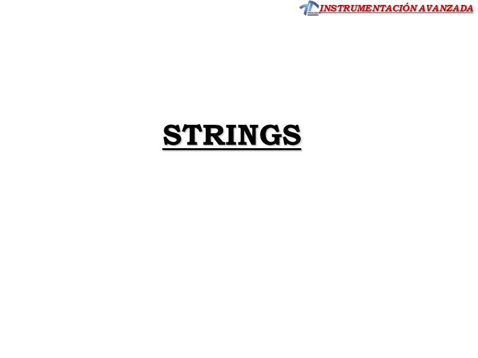 STRINGS CLASE 5