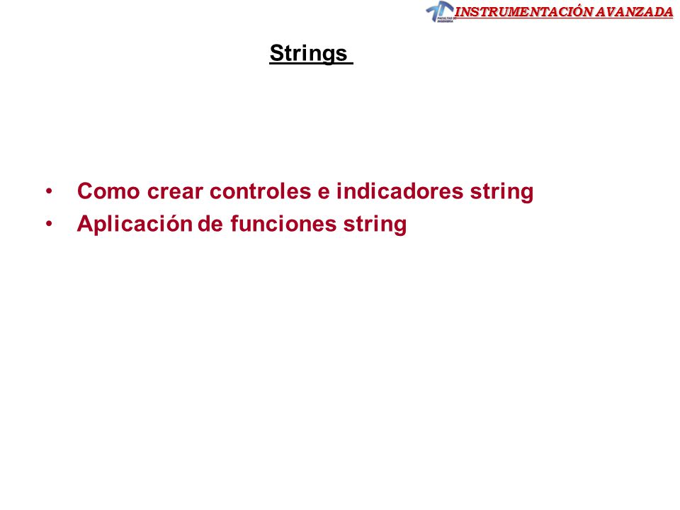 Como crear controles e indicadores string