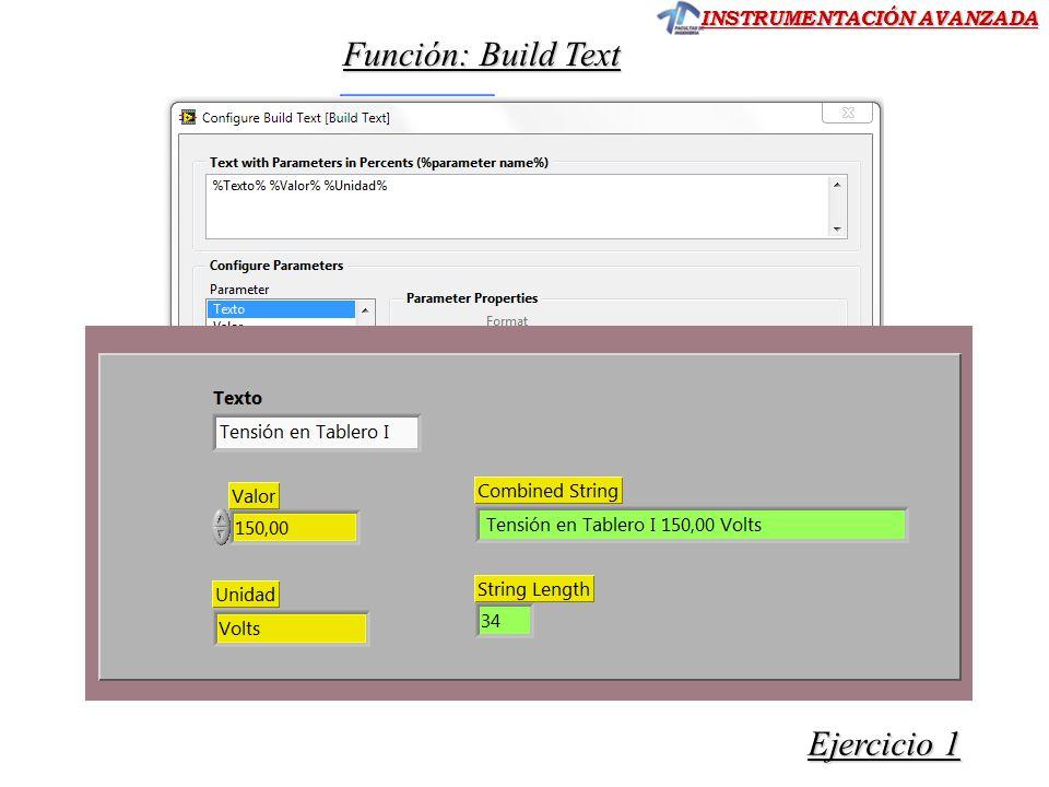 Función: Build Text Ejercicio 1