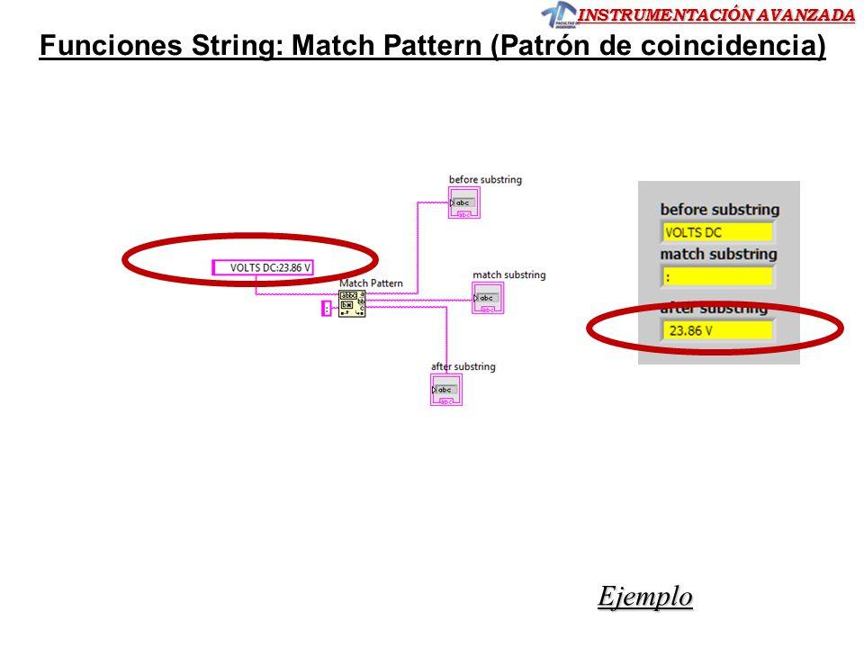 Funciones String: Match Pattern (Patrón de coincidencia)