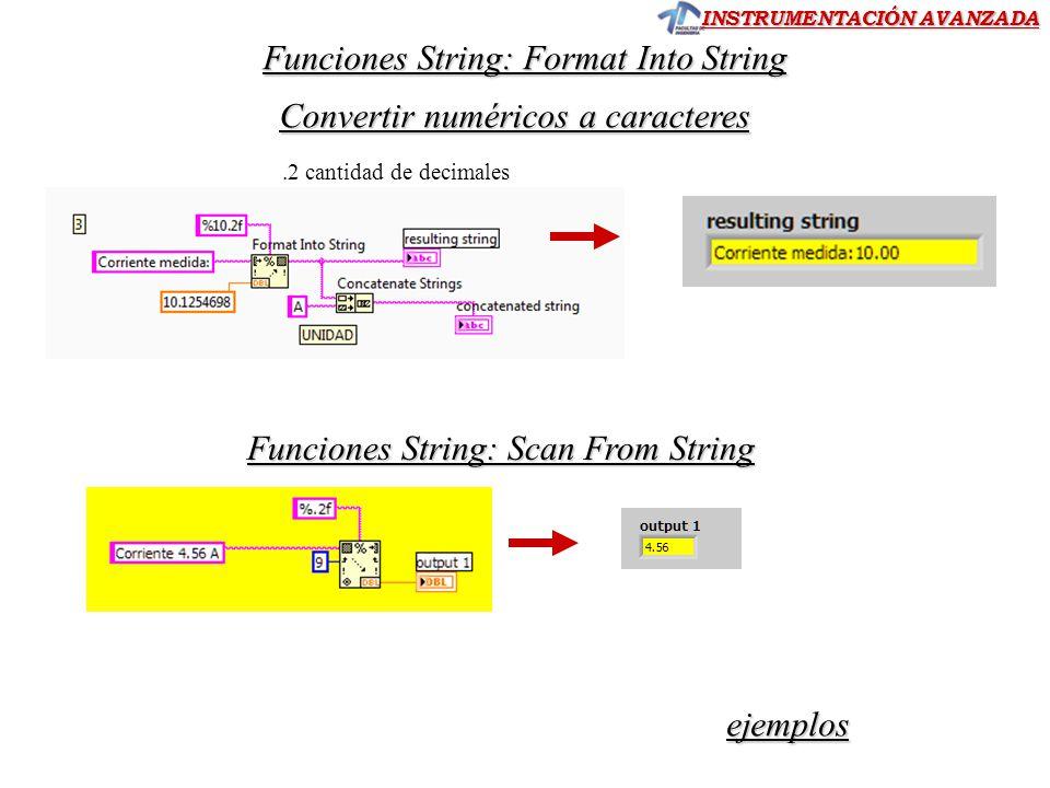 Funciones String: Format Into String