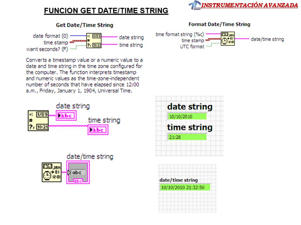 FUNCION GET DATE/TIME STRING