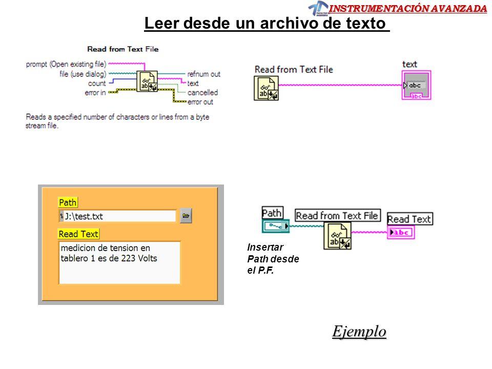 Leer desde un archivo de texto