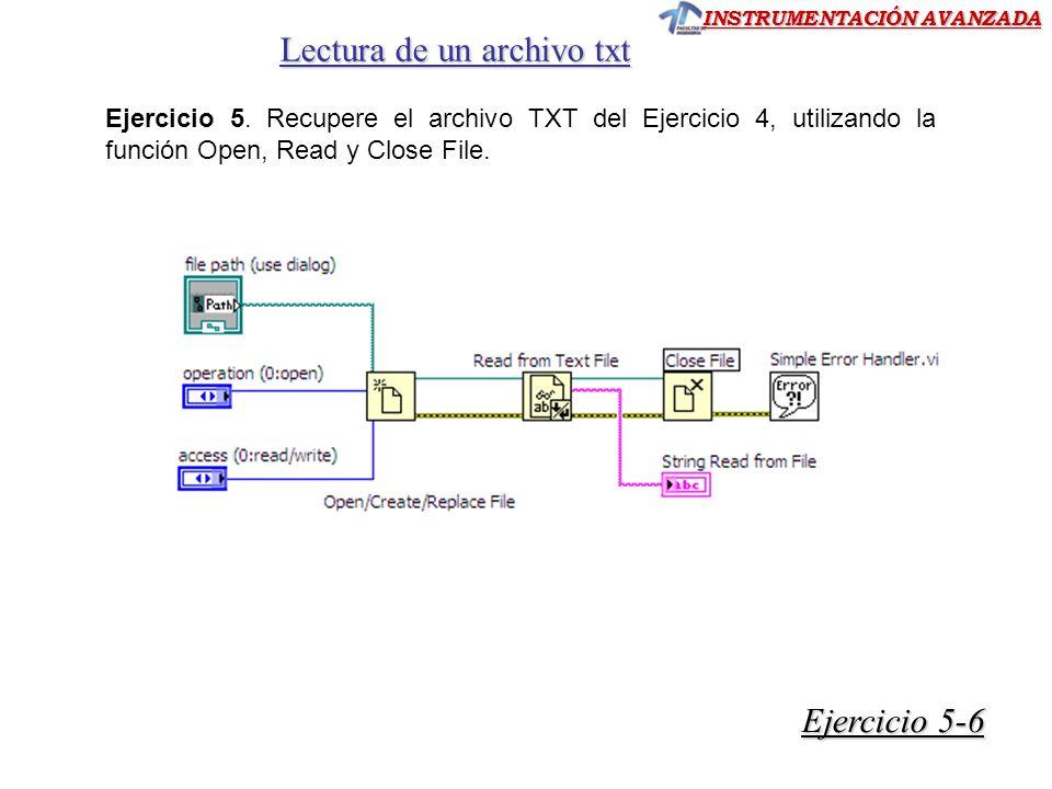 Lectura de un archivo txt