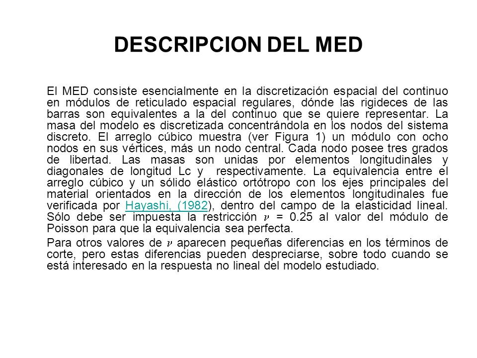 DESCRIPCION DEL MED