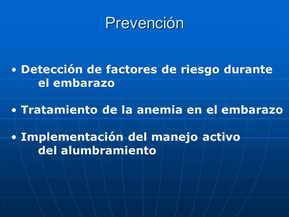 Prevención Detección de factores de riesgo durante el embarazo