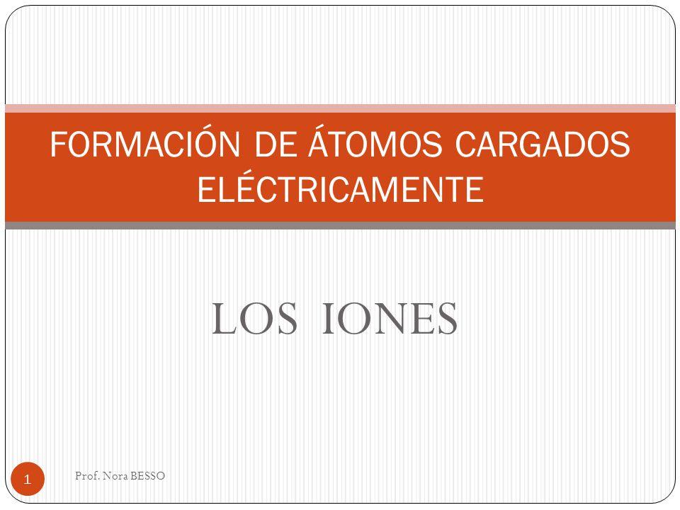 FORMACIÓN DE ÁTOMOS CARGADOS ELÉCTRICAMENTE