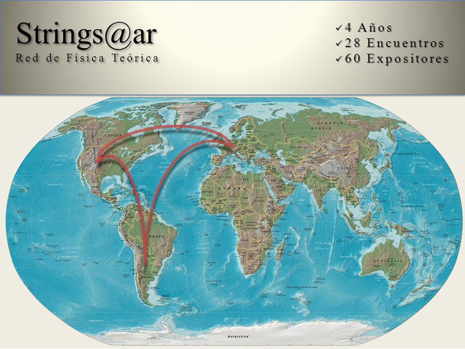Strings@ar º 4 Años 28 Encuentros 60 Expositores Red de Física Teórica