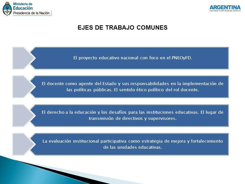 EJES DE TRABAJO COMUNES