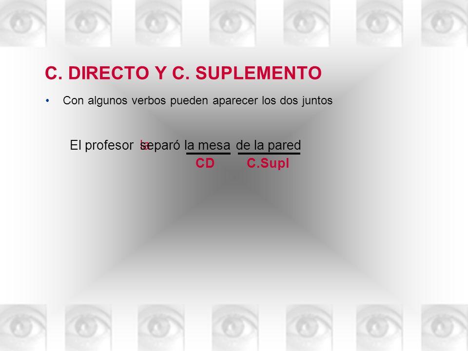 C. DIRECTO Y C. SUPLEMENTO