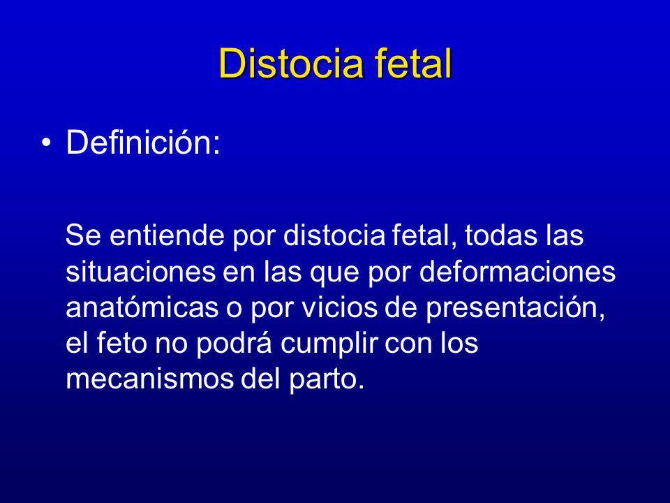 Distocia fetal Definición: