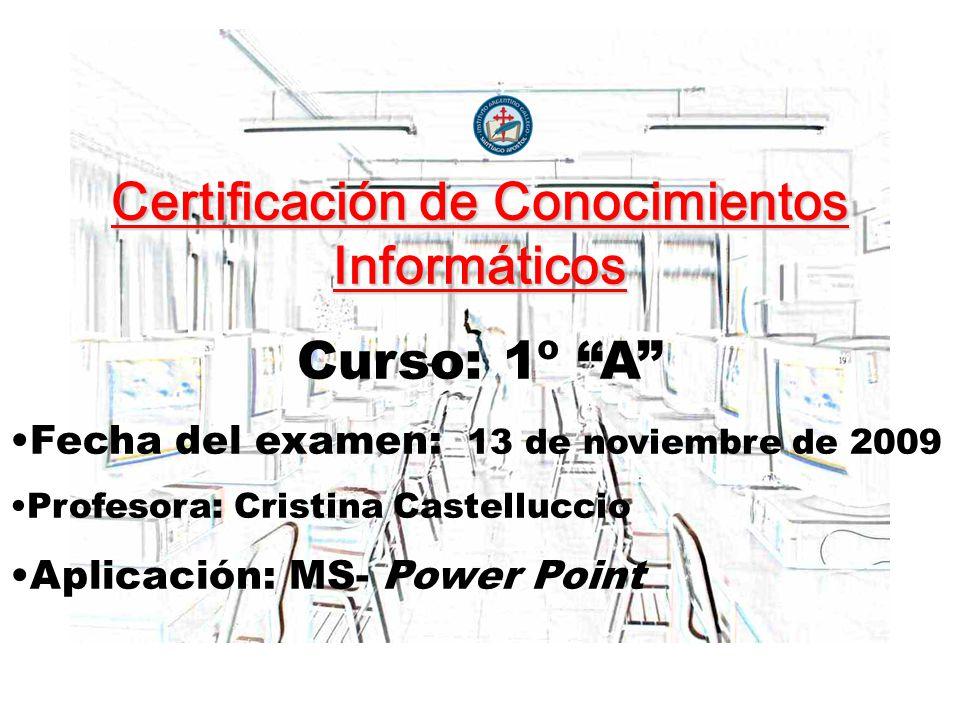 Certificación de Conocimientos Informáticos