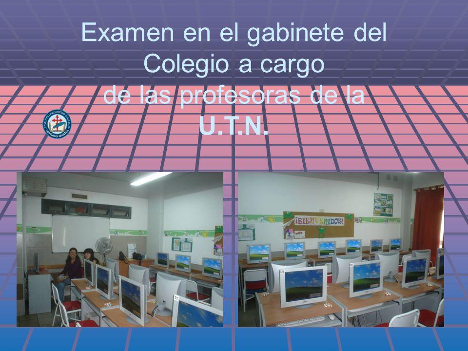 Examen en el gabinete del Colegio a cargo