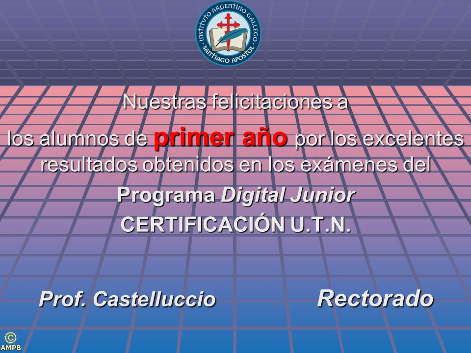 Programa Digital Junior Prof. Castelluccio Rectorado