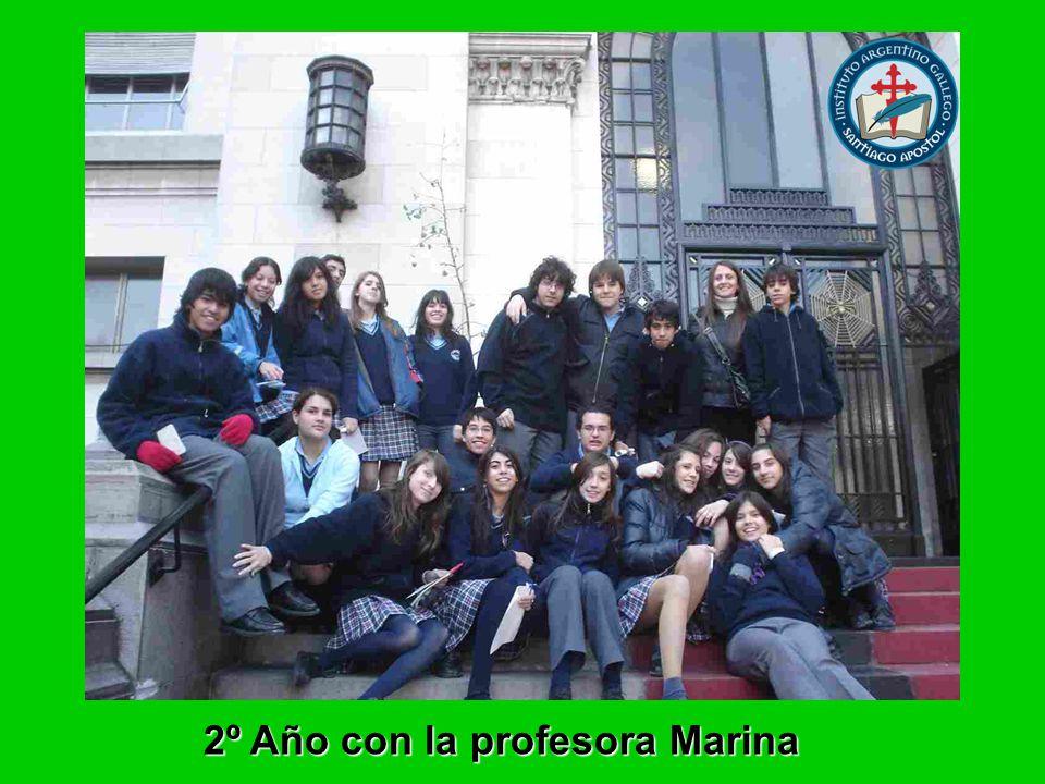 2º Año con la profesora Marina