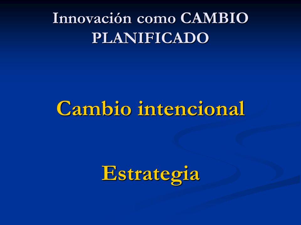 Innovación como CAMBIO PLANIFICADO