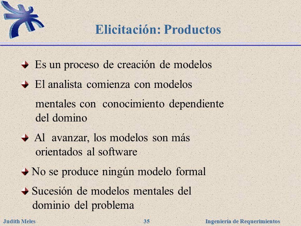 Elicitación: Productos