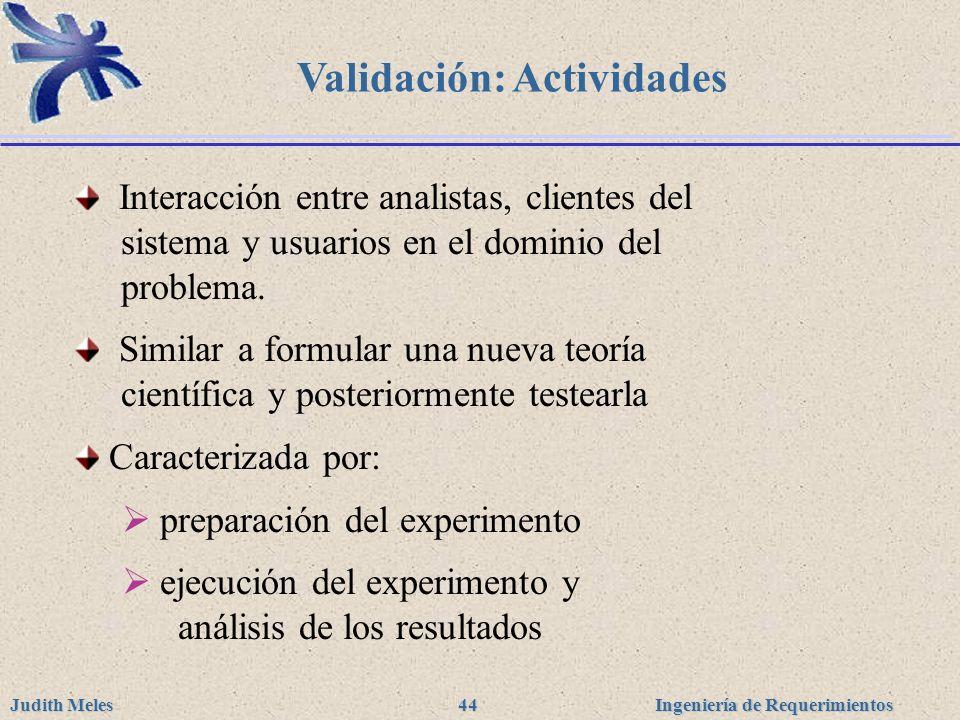 Validación: Actividades
