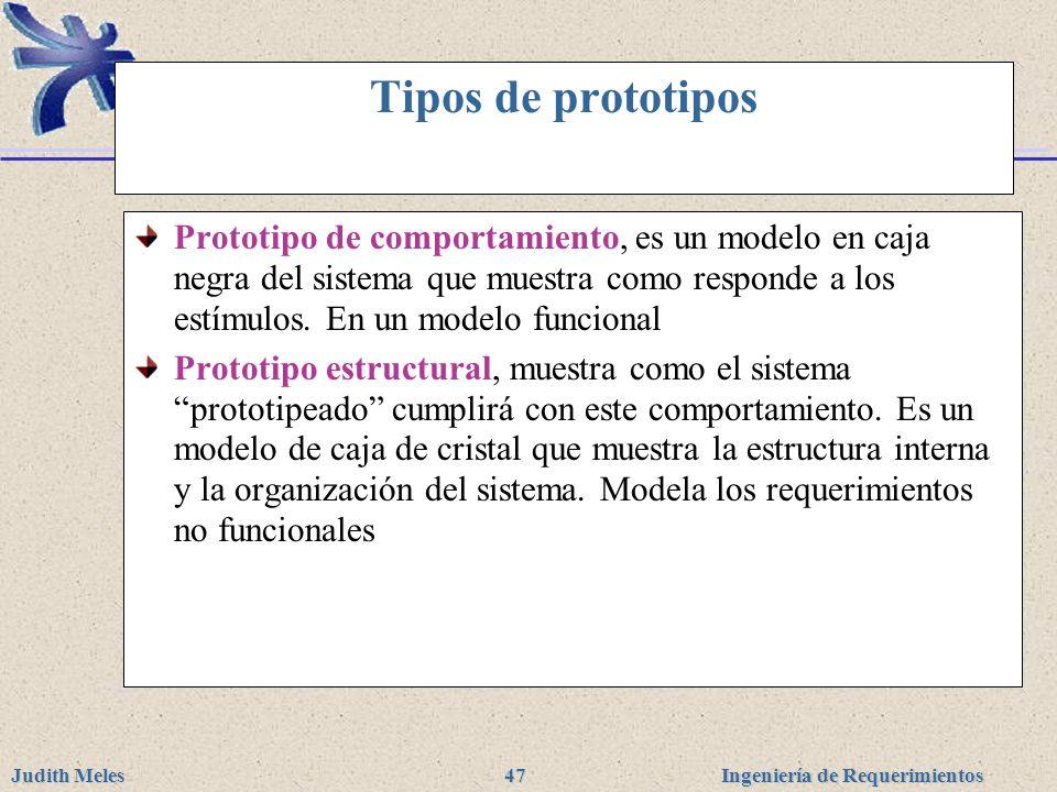Tipos de prototipos