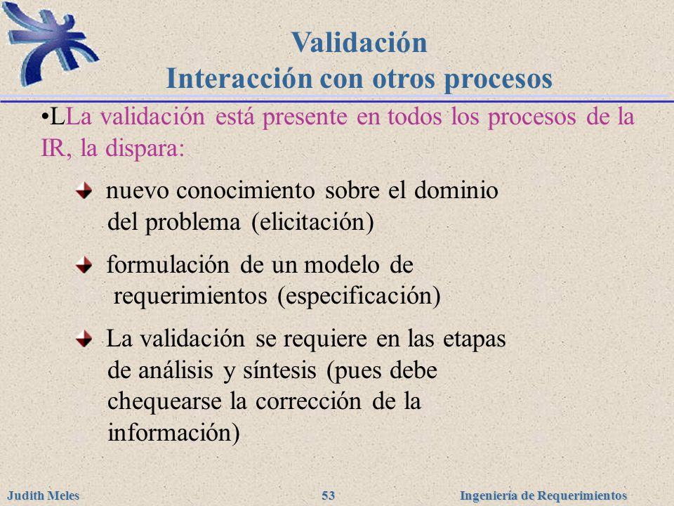 Validación Interacción con otros procesos
