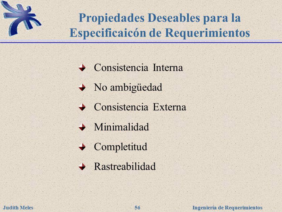 Propiedades Deseables para la Especificaicón de Requerimientos