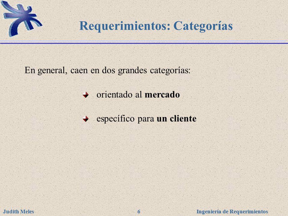 Requerimientos: Categorías
